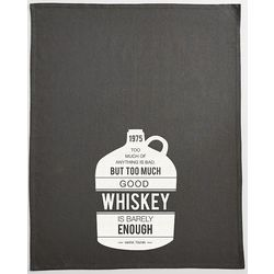 Personalized Too Much Whiskey Is Barely Enough Bar Towel