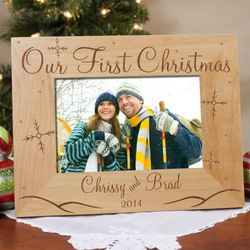 Our First Christmas Picture Frame