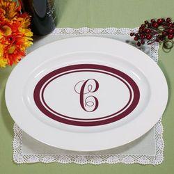Monogrammed Ceramic Serving Platter
