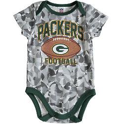 Newborn's Packers Football Camouflage Bodysuit