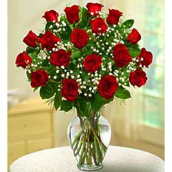 Premium Elegance 18 Long-Stem Red Rose Bouquet