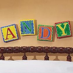 Primary Letters On Canvas