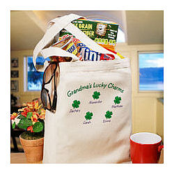 Lucky Charms Personalized Canvas Tote Bag