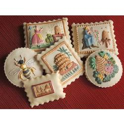 Bee Skep Springerle Cookie Gift Tin