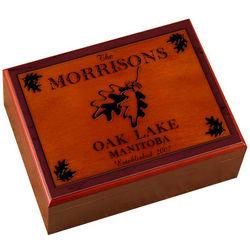 Personalized White Oak Cabin Series Humidor