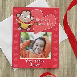 Bananas Theme Personalized Valentine's Day Photo Cards