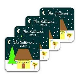 New Home Christmas Coasters