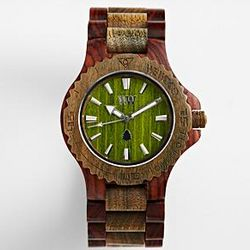 Army Brown Wooden Watch