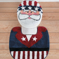 Uncle Sam Toilet Lid Cover and Rug