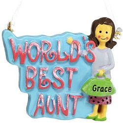 Personalized World's Best Aunt Ornament