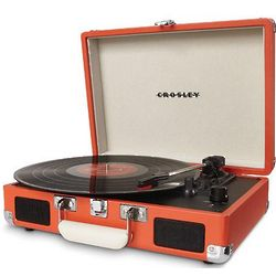Orange Suitcase Turntable