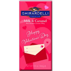 Valentine's Day Caramel Filled Milk Chocolate Bar