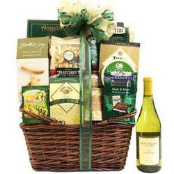Elegant Extravaganza Chardonnay Wine Gift Basket