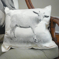 Baby Goat Canvas Throw Pillow
