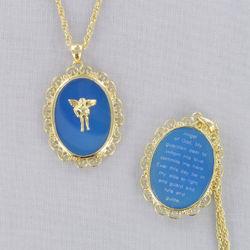Goldtone Filigree Angel Necklace