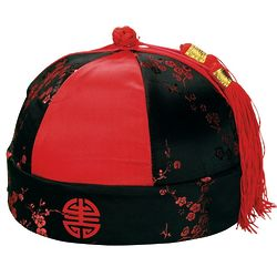 Mandarin Hat with Tassel