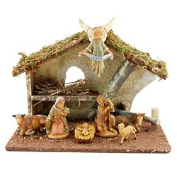7-Piece Italian Nativity with Stable