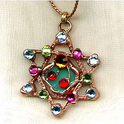 Shield of David Multicolored Necklace