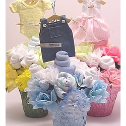 Baby Boy BeBe Clothes Bouquet