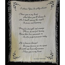 'I Have You in My Heart' Sympathy Blanket
