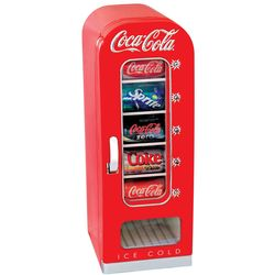 Retro Coca-Cola 10-Can-Capacity Vending Fridge