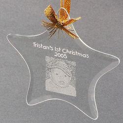 Beveled Glass Star Ornament