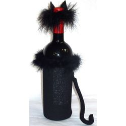Black Cat Bottle Cover