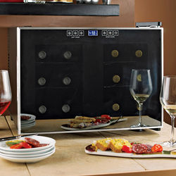 12 Bottle Dual-Temperature Wine Refrigerator with Touchscreen