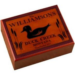 Personalized Wood Duck Design Cabin Series Humidor