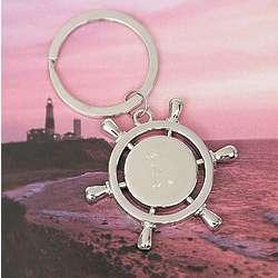 Nautical Wheel Key Chain