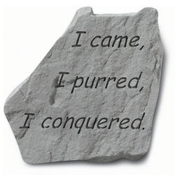 I Came, I Purred, I Conquered Cat Memorial Stone