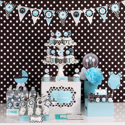 Blue Baby Shower Party Kit