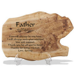 Personalized Fir Wood Plaque for Dad