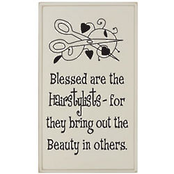 Blessed Are the Hairstylists Plaque