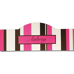 Personalized Pink Stripes Kid's Sign