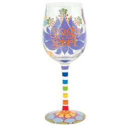 Yoga Wine Glass