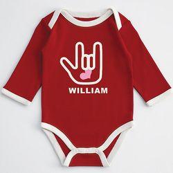 Sign Love Baby Long Sleeve Bodysuit