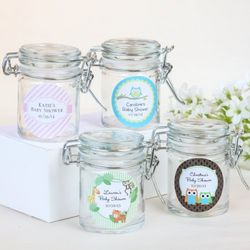 Baby Shower Personalized Glass Favor Jars