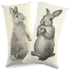 Bunny Rabbits Canvas Throw Pillows