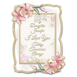 Personalized Daughter, I Love You Heirloom Porcelain Photo Frame