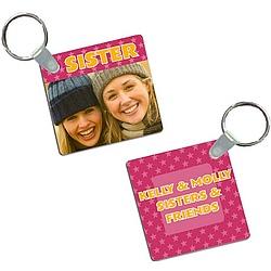 Sister Photo Keychain