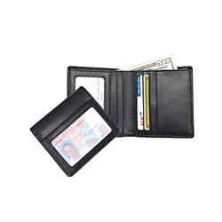 Leather Double ID Bifold Wallet