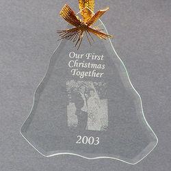 Beveled Glass Christmas Tree Ornament