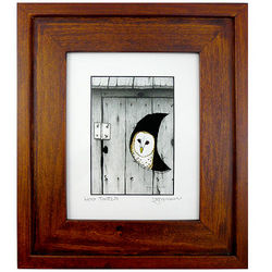 Hoo Tooted Framed Bathroom Art
