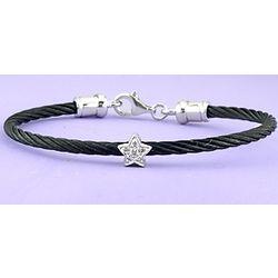 Children's Diamond Star Cable Bracelet