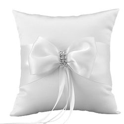 Satin Bows Wedding Ring Pillow