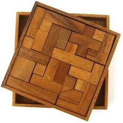 Solid Pentominoes Wooden Brain Teaser Puzzle