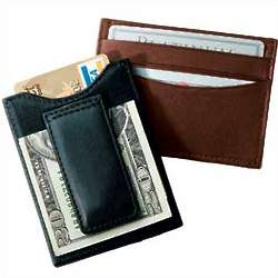 Leather Magnetic Money Clip Wallet