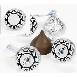 Personalized Classic Black and White Hershey's Kisses