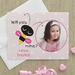 Bee Mine Photo Valentine's Day Cards for Kids
